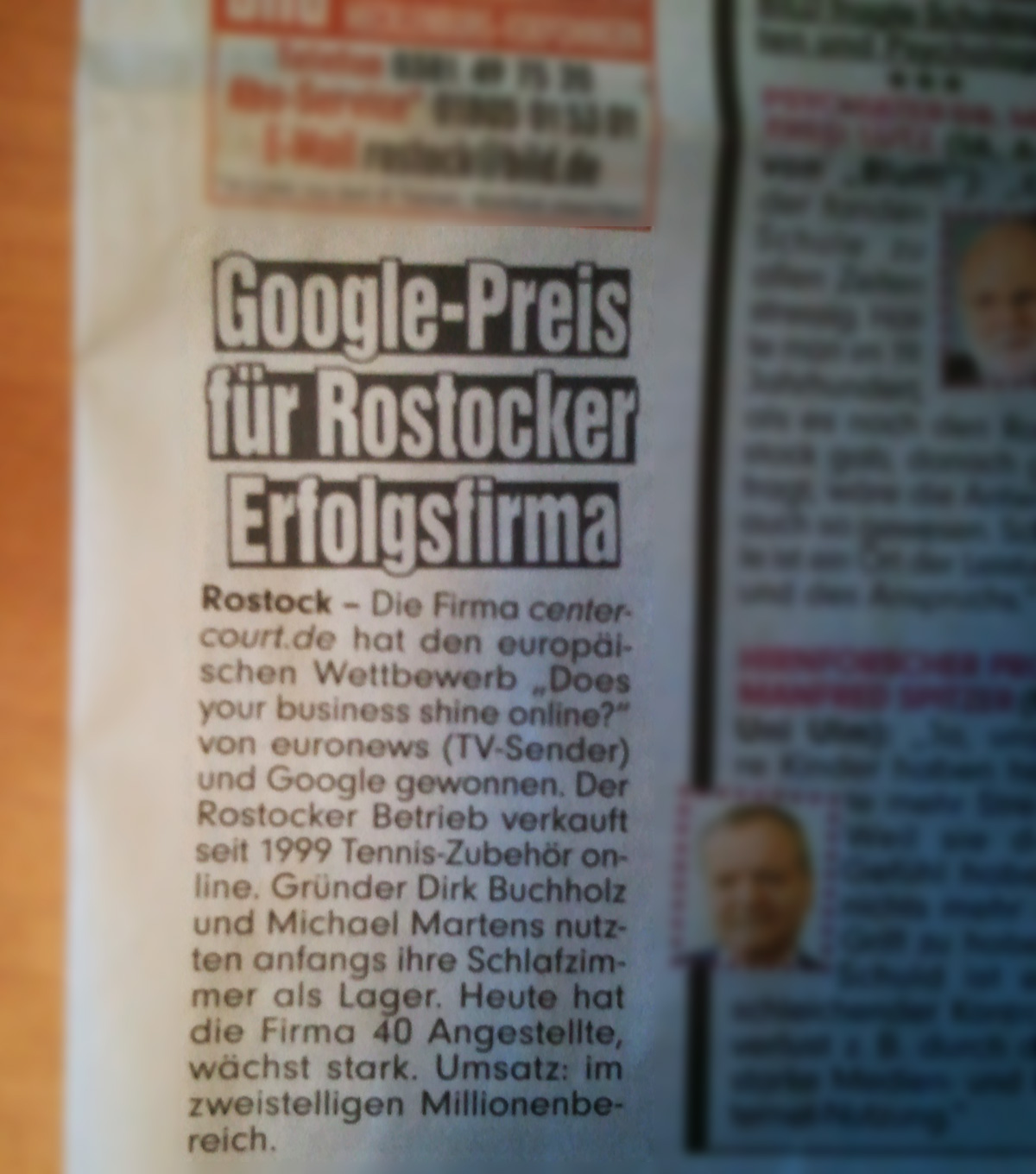 euronews business award with google screendesign by. Black Bedroom Furniture Sets. Home Design Ideas