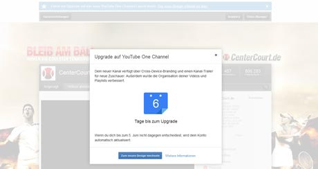 YouTube-Update One Channel